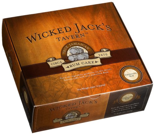 Wicked Jack's Tavern Jamaican Rum Cake, Chocolate, 33-Ounce Boxes