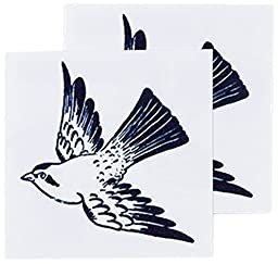Tattly Temporary Tattoos, Cartolina Bird, 0.1 Ounce