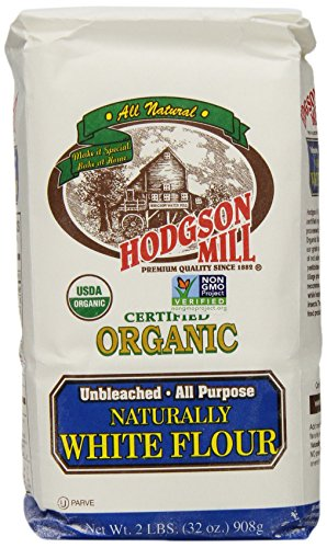 Hodgson Mill Organic Naturally White Flour, Unbleached All-Purpose, 2-Pounds (Pack of 6) (Organic White Bread Flour compare prices)