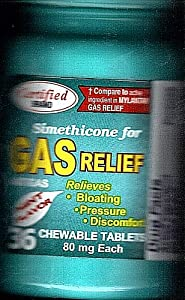 Gas Relief chewable tablets,80 mg, 36 tablets