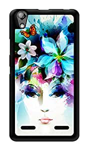 "Humor Gang Colorful Girl Hat Printed Designer Mobile Back Cover For ""Lenovo A6000 Plus"" (3D, Glossy, Premium Quality Snap On Case)"
