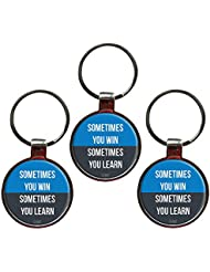 Sometimes You Win Sometimes You Learn Inspiring Metal Key Chain Set Of 3