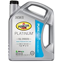 Pennzoil 550038332 Platinum 5W-20 Full Synthetic Motor Oil API GF-5 - 5 Quart Jug