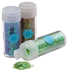 Martha Stewart Crafts Iridescent Tinsel Glitter, 12-Pack