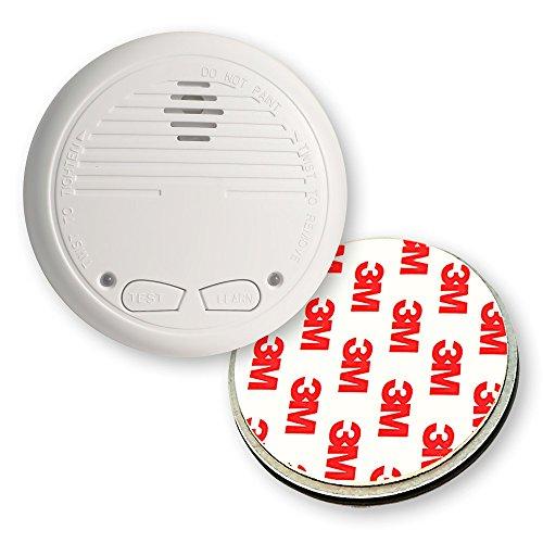 1 Nemaxx WL2 Funkrauchmelder Rauchmelder Brandmelder Set Funk koppelbar vernetzt - nach EN 14604 + 1x NX1 Quickfix Magnet