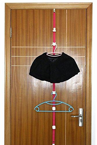 Adjustable Over Door Straps Hanger Hat Bag Clothes Rack Holder Organizer 8 Hooks