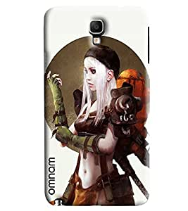 Omnam Girl Preparing For War Printed Designer Back Cover Case For Samsung Galaxy Note 3 Neo