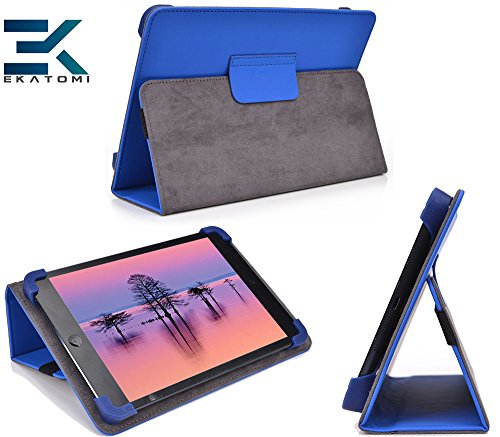 Ekatomi© Universal Tablet Flip Case Foilo Cover With Stand For Allview Viva Q7 Life [Dark Blue]