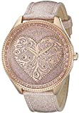 GUESS Women's U0697L3 Trendy Rose Gold-Tone Watch with Heart Dial