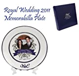 BLUE COLLECTORS PLATE In PRESENTATION BOX - BRITISH ROYAL WEDDING - PRINCE WILLIAM & KATE MIDDLETON APRIL 2011
