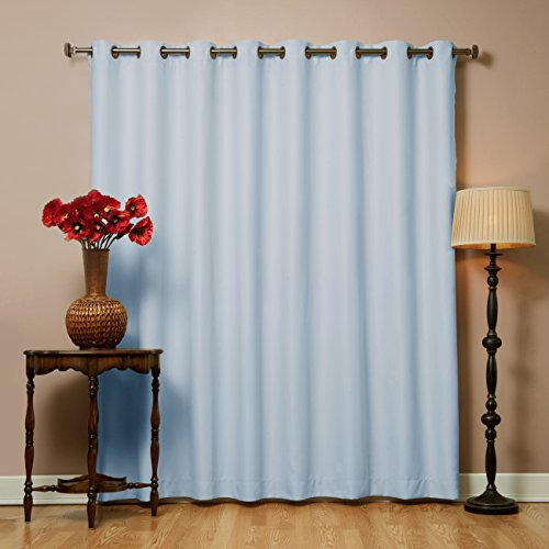 Best Home Fashion - Ampia tenda termica isolante oscurante, a pannello, larghezza 100 cm - azzurro - 255 cm w x 229 cm l