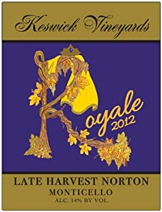 2012 Keswick Royale Norton Ice Wine 375 mL