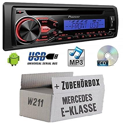 Mercedes classe E W211-Pioneer deh1800ubb-Kit de montage autoradio CD/MP3/USB -