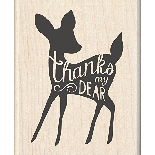 "Inkadinkado Thanks My Dear Mounted Rubber Stamp, 2.25"" by 2.75"""