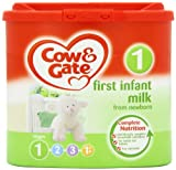 #9: Cow and Gate Stage 1 From Newborn First Infant Milk from Newborn 400 g (Pack of 6)