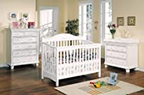 Hot Sale Crib Changing Table Chest 4 Piece Set Hearland White Finish