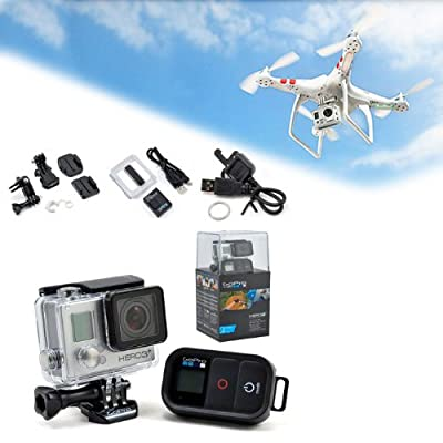 DJI Phantom Aerial UAV Drone Quadcopter With GoPro Hero 3+ Black Edition Camera Bundle
