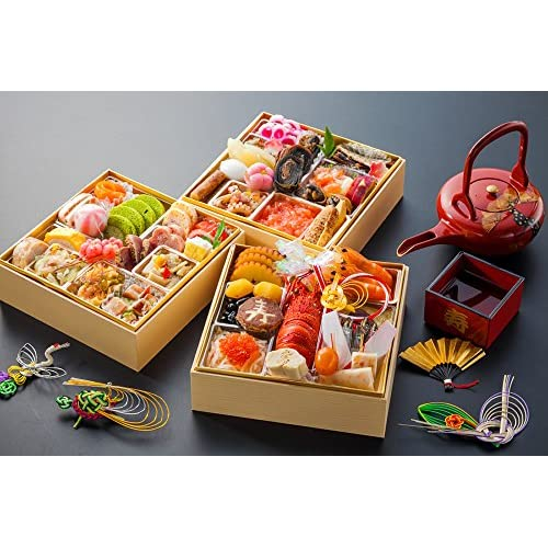 まるきん寿の彩 和洋三段重おせち料理 2~3人前 全47品目 (6.5寸)