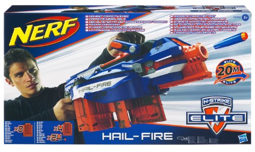Nerf N-Strike Elite Hail-Fire Blaster(Discontinued by manufacturer) (Hail Fire Nerf Gun compare prices)