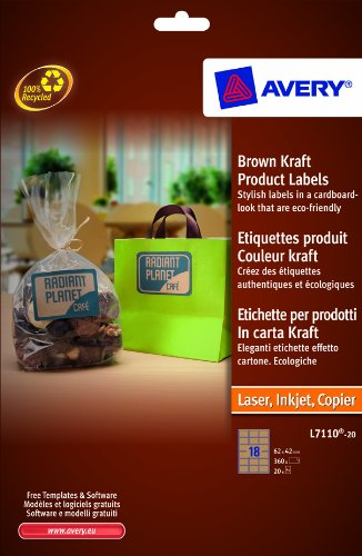 avery-l7110-20-printable-labels-62-x-42-mm-rectangular-labels-18-labels-per-a4-sheet-20-sheets-brown