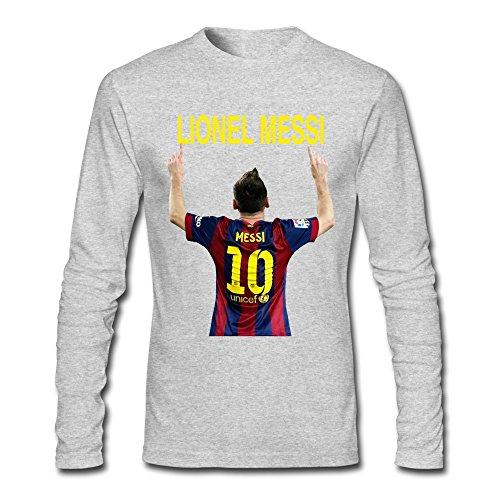 AOPO Men's Long Sleeve Barcelona Lionel Messi Tee Shirts