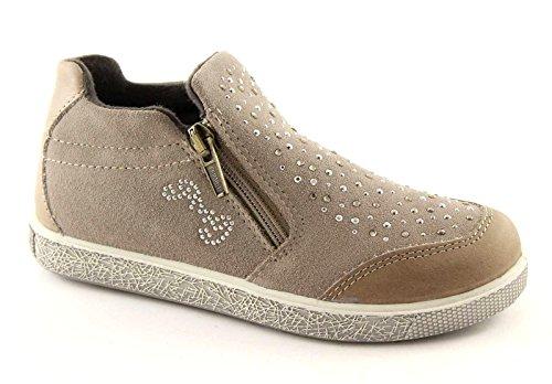 PRIMIGI 46120 31/35 taupe scarpe bambina sneakers tipo slip on zip 35