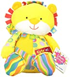 Rainbow Designs 30cm Long Label Lovies Cute as a Button Lion for Newborn (Multi-Coloured)