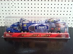 Buy Jimmie Johnson #48 Lowes Hauler Trailer Transporter Rig Semi 1 64 Scale 2003 Preview Racing Champions with Bonus 1 64... by Racing Champions