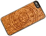 Carved I5-CC1K-E-AZTEC Wood Clear Case for iPhone 5 - Aztec Calendar - 1 Pack - Retail Packaging - Cherry