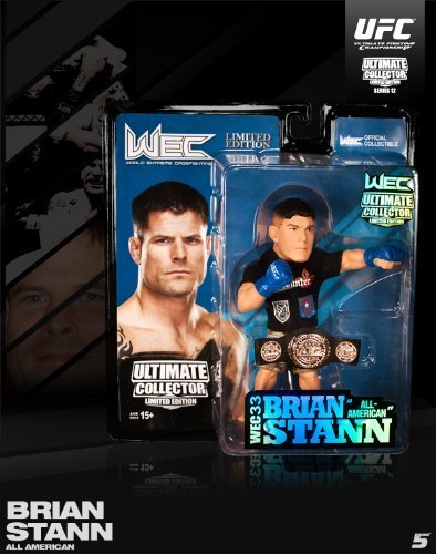 Round 5 UFC Ultimate Collector Series 12 WEC CHAMPIONSHIP EDITION Action Figure Brian Stann with Belt!