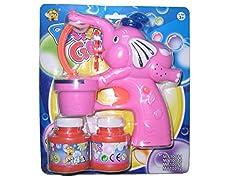 Catterpillar Battery Operated Bubble Gun (Pink)