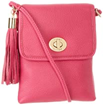 Tommy Hilfiger Turnlock Tassel Pebble Cross Body,Checkerboard Pink,One Size