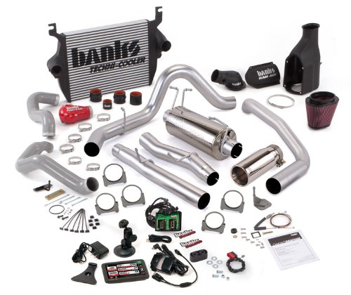 Banks Power 46509 PowerPack System; Performance System; Incl. EconoMind Tuner/Banks iQ/Banks Ram-Air Intake/High-Ram Intake Manif/Techni-Cooler Intercooler/Monster Exhaust; Single;