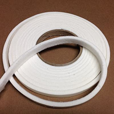 "1/2"" x 1/4"" Nomex High Temp BBQ gasket smoker pit seal, self stick 15ft."