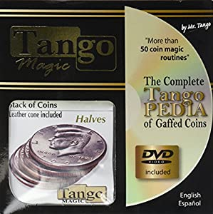 MMS Stack of Coins Halves (with DVD) (D0056) by Tango - Trick