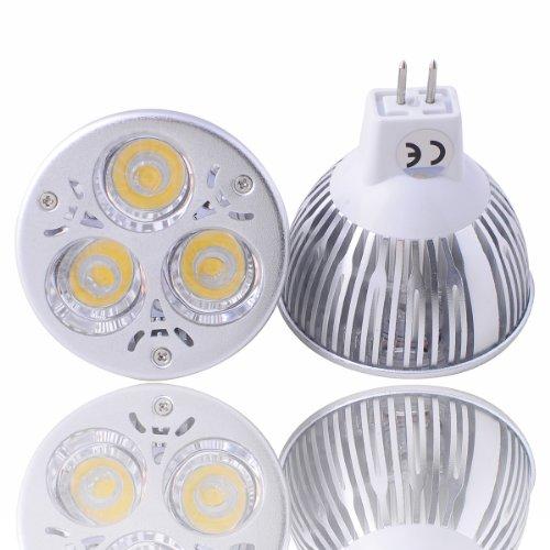 Lot Of 10 Dimmable 12V 6W Mr16 Gu5.3 Led Bulbs - 4500K Day White Led Spotlights 50Watt Equivalent - 500 Lumen 60 Degree Beam Angle For Landscape, Recessed, Track Lighting