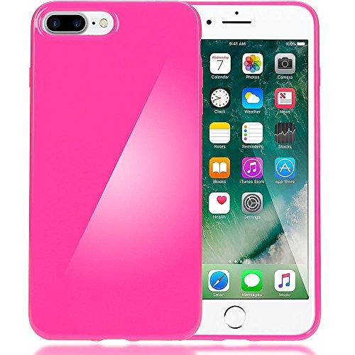 delightable24 Protezione Cover Case in Silicone TPU Jelly per Smartphone APPLE IPHONE 7 PLUS - Pink Rosa