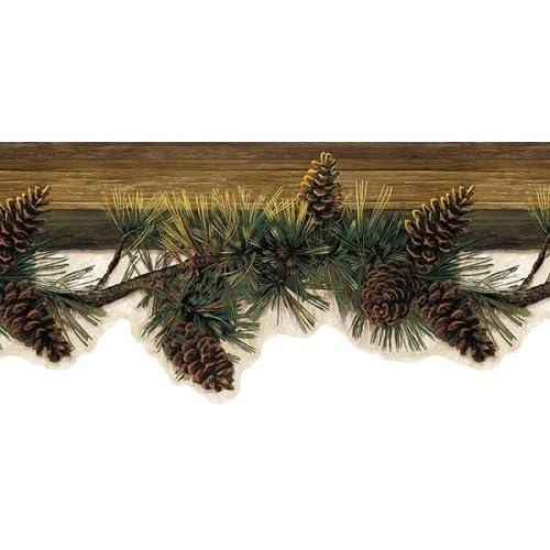 Pinecone Pine Cone Wallpaper Wall Paper Border Boarder