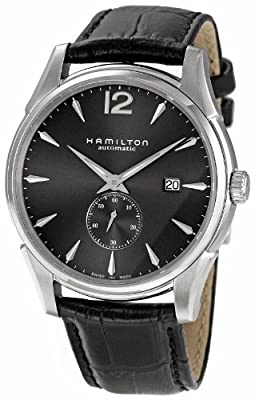 Hamilton Men's H38655785 Jazzmaster Slim Petite Seconde Black Dial Watch