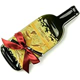 Melted Wine Bottle Cheese Plate Candoni Chianti / Upcycled Bottles / Recycled Wine Bottles / Cheese Board / Wine and Cheese