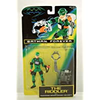 """5"""" Jim Carrey As The Riddler Action Figure With Trapping Brain-Drain Helmet! - Batman Forever: The Movie"""