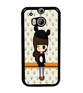 PrintDhaba Cute Doll D-5870 Back Case Cover for HTC ONE M8 (Multi-Coloured)
