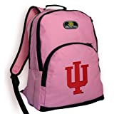 Indiana University Backpack Pink IU Logo NCAA Travel School Bags