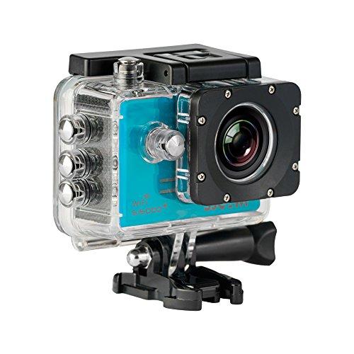 SJCam SJ5000 Plus (versión española) - Videocámara deportiva con chip Ambarella y sensor Panasonic 16MP (WiFi integrado LCD 1.55'', 2k 2560x1440/30fps, sumergible 30M) color azul