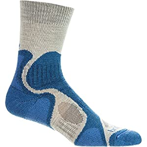 Bridgedale Cool Fusion Trailblaze Sock - Women's Natural/Blue, S