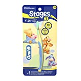 Oral-B Stages 1 Disney Baby 4-24 Months Toothbrush, 1 Count (Pack of 2) Colors and Designs May Vary