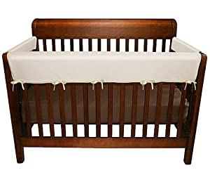 Jolly Jumper 3 Piece Soft Rail for Convertible Cribs, White and Champaine Color Ribons