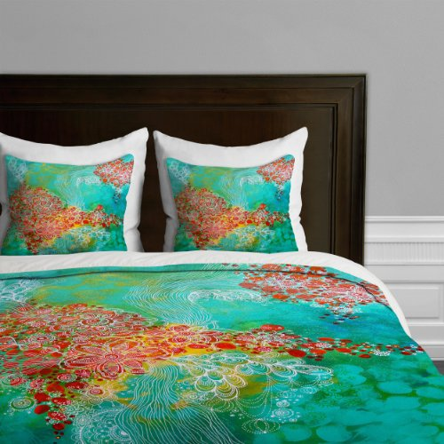 Deny Designs Stephanie Corfee Whisper Duvet Cover, King back-926962
