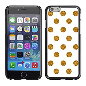 Omega Covers - Snap on Hard Back Case Cover Shell FOR Iphone 6/6S (4.7 INCH) - White Polka Dot Pattern Minimalist