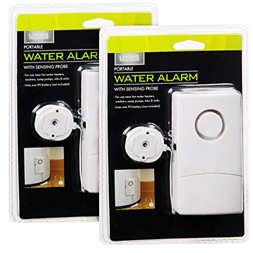 living solutions 2 water alarms with sensors for floods leaks basement